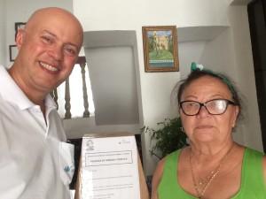 Recolhimento da urna de pesquisa no Hotel Luz, junto à Sra Eva