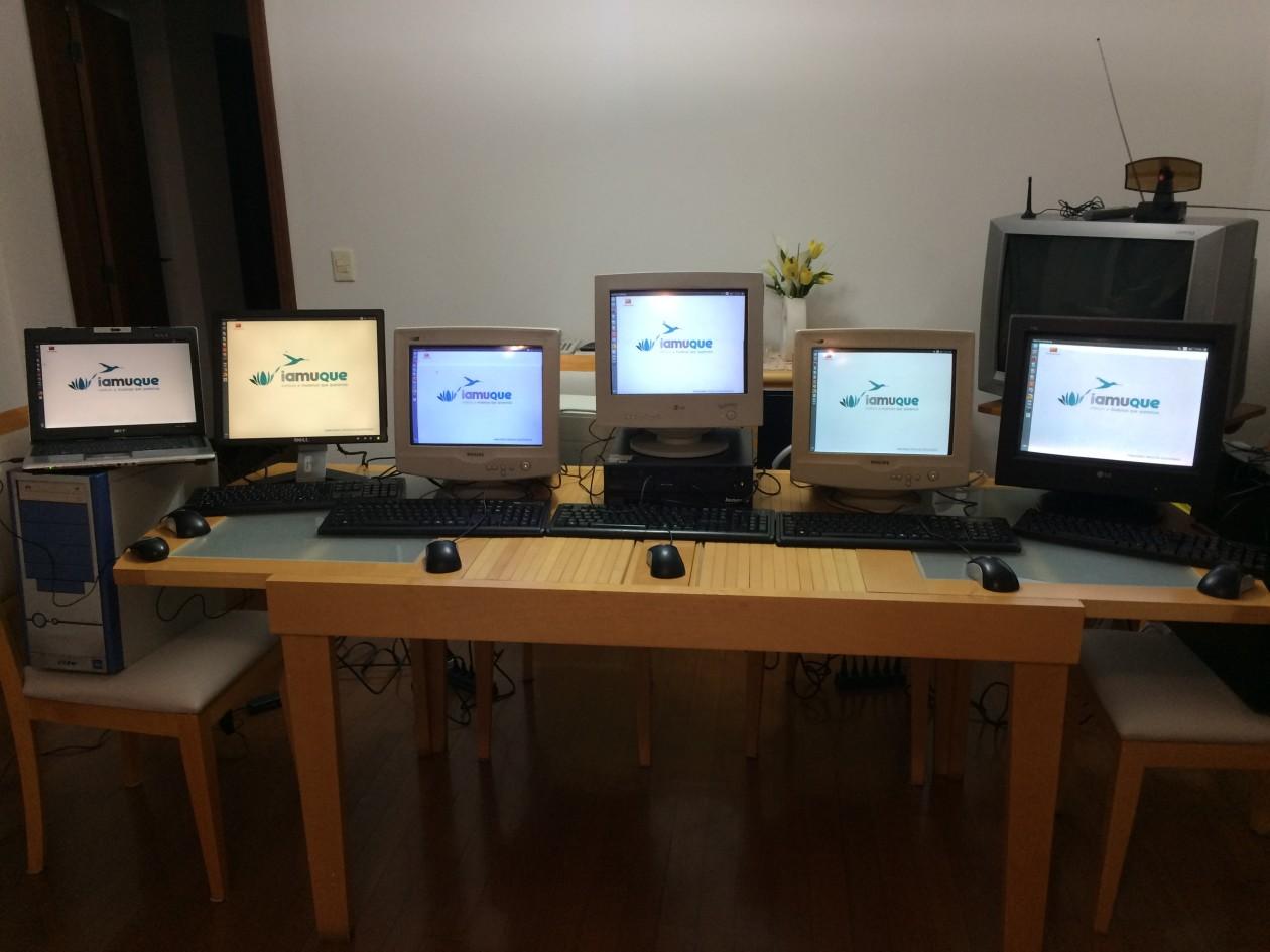 PCs testados e prontos para entrega